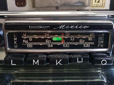 Becker Mexico Us Wonderbar Vintage Classic Car Fm Radio
